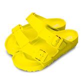 LIKA夢 LOTTO 馬卡龍雙扣環時尚輕量拖鞋 海灘拖鞋 室內、外拖鞋 萊姆黃 5624 女