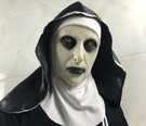 鬼修女面具 萬聖節 恐怖嚇人 驚束 女鬼臉頭 整蠱 派對用品【H81015】
