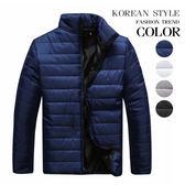 簡約純色立領保暖鋪棉外套(四色)【K4173】