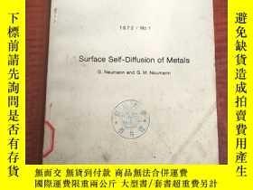 二手書博民逛書店surface罕見self-diffusion of metals(P3185)Y173412