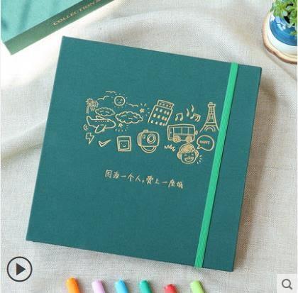 紀念相冊DIY手工相冊粘貼式家庭情侶畢業記錄創意影集紀念冊本禮物 愛麗絲