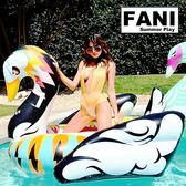 ◇方妮FaNi◇歐美火紅【花心鵝游泳圈飄浮床】漂浮板水果浮板水上充氣泳圈充氣床海灘沙灘