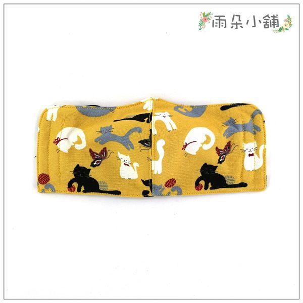 布面口罩 包包 防水包 雨朵小舖N088-069 布面中童中車口罩-黃線球笑笑貓10089 funbaobao