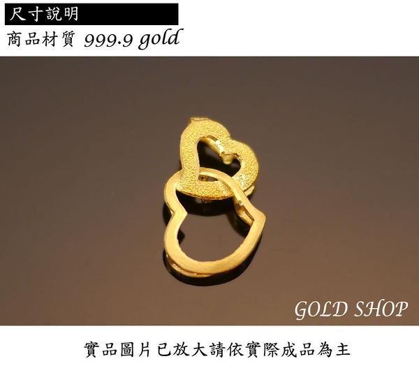 晴日小舖 gold 黃金 墜飾 保證卡 重量0.39錢 贈皮繩項鍊 [ gp 013 ]