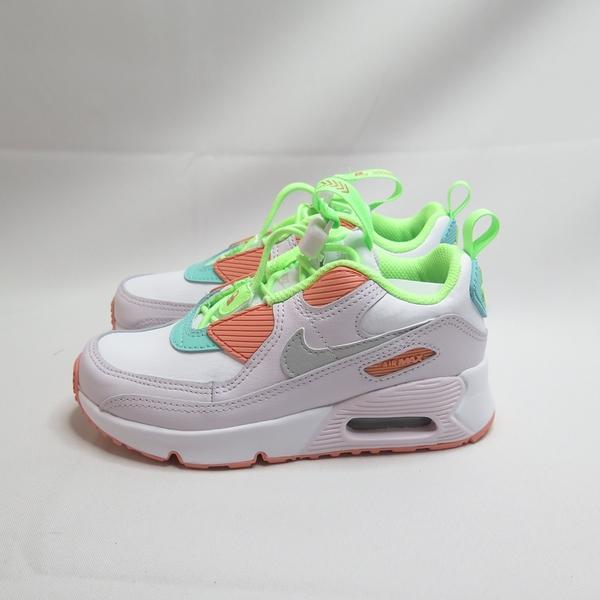 NIKE AIR MAX 90 TOGGLE (PS)中童 氣墊 休閒鞋 CV0064102 白x橘x綠【iSport】