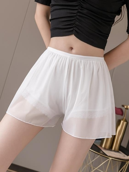 安全褲 安全褲防走光女夏薄款蕾絲可內外穿三分打底褲寬鬆居家短褲保險褲 非凡小鋪