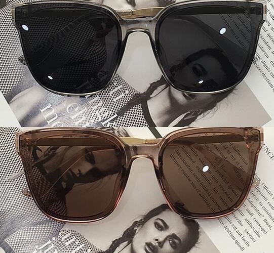 復古方形黑色個性太陽眼鏡