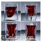 咖啡杯果汁杯酒杯櫻花季網紅6oz貓爪雙層玻璃杯 交換禮物