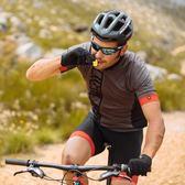 迪卡儂山地車自行車騎行服夏季男短袖背帶騎行褲快干速干MBTWIN