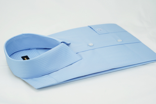 【金‧安德森】藍色吸排窄版長袖襯衫