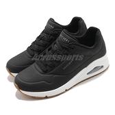 Skechers 休閒鞋 Uno-Stand On Air 黑 白 女鞋 氣墊 增高 運動鞋 【ACS】 73690WBLK