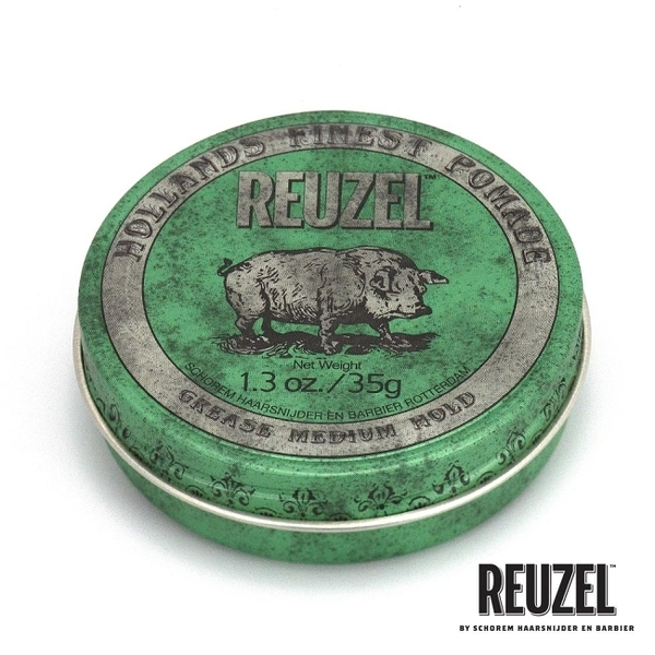 REUZEL Green Pomade Grease 綠豬中強髮油 35g