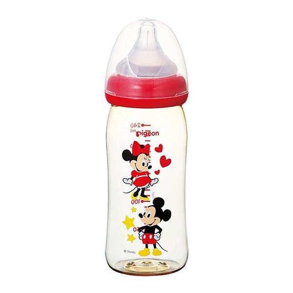 Pigeon貝親 - 母乳實感寬口PPSU奶瓶 迪士尼 米奇米妮 240ml
