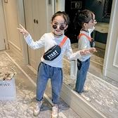 童裝女童長袖t恤2020新款正韓秋裝上衣中大童兒童洋氣白色打底衫