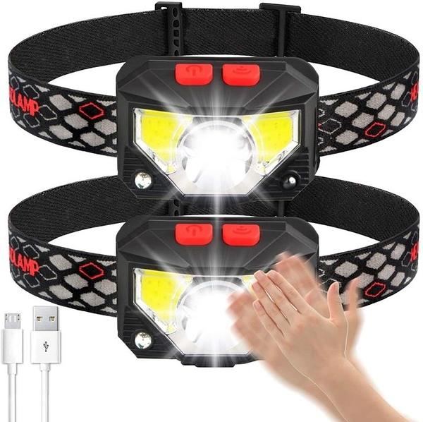 【美國代購】Soft Digits頭燈手電筒 1100流明USB充電 8種模式 工作燈 運動傳感器 防水
