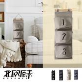 【北歐原素】數字雜貨風吊掛式3 格收納袋四色可選LS0091 YKS