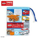 Sanrio 汽車宇宙*TOMICA日本製棉質縮口杯袋(方格)★funbox★_273881N