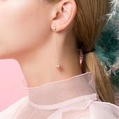 【YPRA】耳環 可愛草莓耳環女氣質韓國個性百搭耳墜簡約清新無耳洞耳夾純銀耳釘