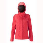 [Rab] (女) Downpour Jacket 防水透氣連帽外套 珊瑚紅 (QWF-63-CR)