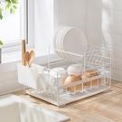 北歐雙層碗碟盤瀝水架廚房多功能置物架水槽餐具筷勺收納架整理架 亞斯藍