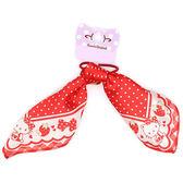 《Sanrio》HELLO KITTY兔耳朵造型緞帶髮束(草莓)★funbox生活用品★_429864