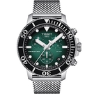 TISSOT天梭 Seastar 海星300米潛水石英錶-鋼帶款(T1204171109100)綠