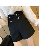 西裝短褲 法式短褲女夏裝2021新款高腰垂感休閒褲寬鬆a字闊腿外穿西裝褲潮 韓國時尚 618