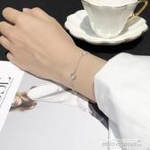 手鍊六邊形女生手鍊女韓版簡約個性純銀手鍊首飾女流行飾品銀飾 【傑克型男館】