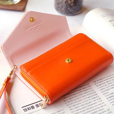 手機零錢包 韓國皇冠中夾 長夾 皮夾卡包 卡夾 《生活美學》