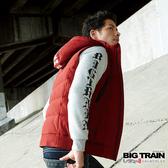 Big Train 拆脫帽文字絲棉背心-紅色-B4014515