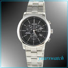 【萬年鐘錶】CITIZEN 光動能/黑/三眼計時/鋼錶 AT0490-54E