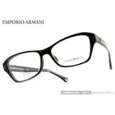 EMPORIO ARMANI 光學眼鏡 EA3032F 5220 (黑) 簡約時尚典藏款 平光鏡框 # 金橘眼鏡