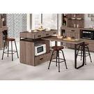 【森可家居】哈珀4尺中島型多功能餐桌櫃 (不含椅) 8CM901-1 餐櫃 木紋質感 北歐風