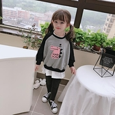 2020春秋新款 女童可愛甜美拼接衛衣 兒童舒適寬鬆卡通圖案上衣  店慶降價