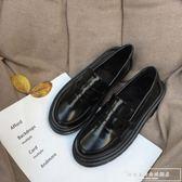 韓版日系軟妹原宿ins小皮鞋女ulzzang潮英倫風平底樂福鞋學生單鞋『韓女王』