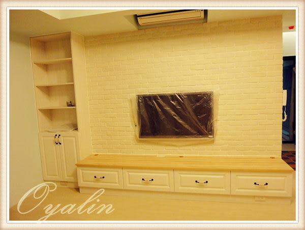 【歐雅系統家具】電視矮櫃+開放高櫃