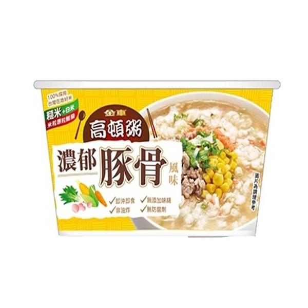 金車高頓粥濃郁豚骨風味63g 【康鄰超市】