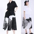 原創設計抽象印花繫帶洋裝連身裙【13-16-81360-20】ibella 艾貝拉