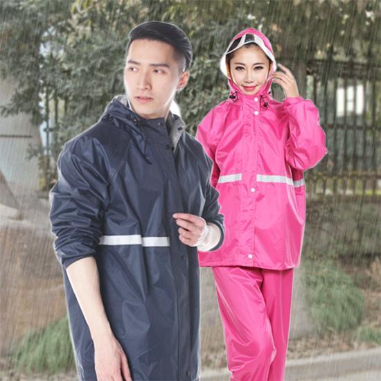 兩件式雨衣套裝 透氣 防水 全身雨衣 加厚 防風 成人雨衣 反光 雙層 摩托車雨衣【Z057】生活家精品