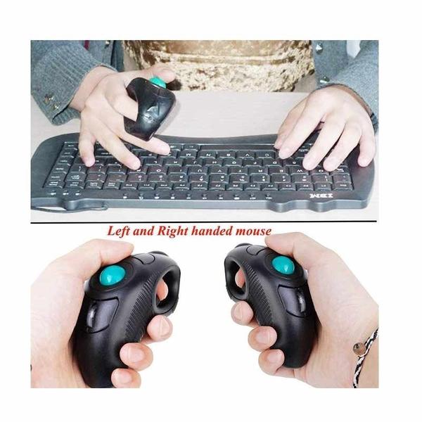 EIGIIS 2.4G 手持式滑鼠 左右手可用 Ergonomic Trackball Wireless Optical Travel DPI Mice [2美國直購]