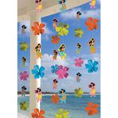 裝飾串門簾6入-夏威夷女孩