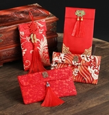 萬元紅包袋結婚創意大紅包高檔婚禮個性布袋改口禮金生日利是封春季新品