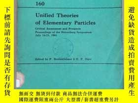 二手書博民逛書店united罕見theories of elementary particles(P2221)Y173412