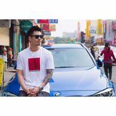 【蟹老闆】Calvin Klein CK 男短袖 紅方型黑字 白色