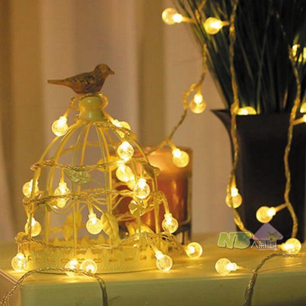 110V 暖光 LED 水晶球 燈串 (4米/20燈) 可延長 燈飾