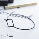 Crayon.極簡菱形鏤空勾式手環【hc...
