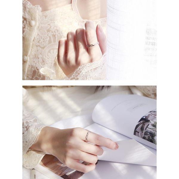 日韓簡約 S925 925 純銀 幾何 三角形 韓風 氣質 戒指 抗過敏 女 飾品 禮物 孔孝貞 開口戒指環 BOXOPEN