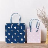 卡通鉚釘禮品袋牢固紙袋手提服裝袋子送禮生日禮物服裝紙袋牢固gogo購