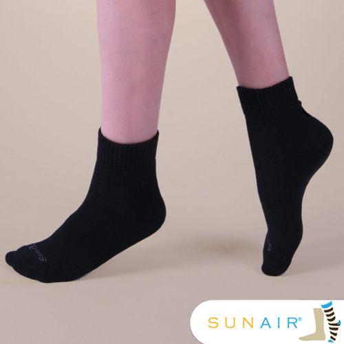 sunair 滅菌除臭襪子-標準型運動襪短筒M(21~24.5) (黑)/SA1801