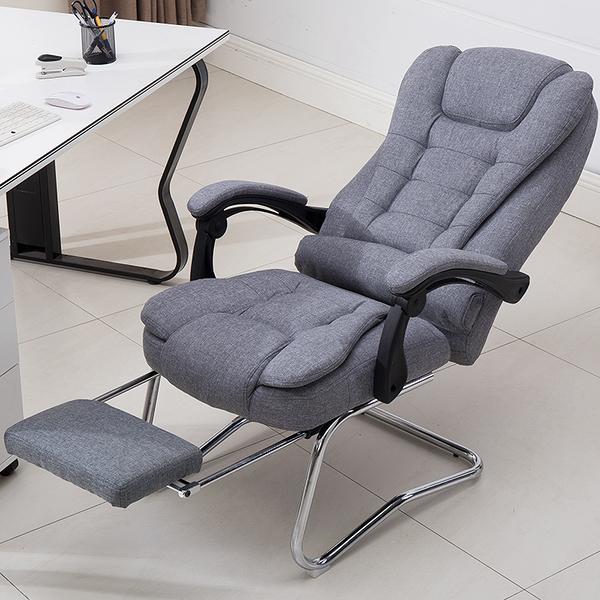 可躺弓形椅家用公椅布老板椅午休久坐舒适按摩椅美容椅子